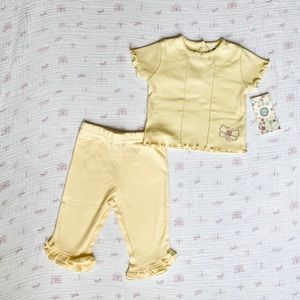Little Me Yellow Baby Girl Set - 6 Month